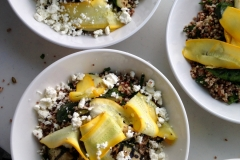 Hodge & Huggett Raw and grilled courgetter with buckwheat